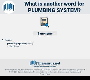 plumbing system, synonym plumbing system, another word for plumbing system, words like plumbing system, thesaurus plumbing system