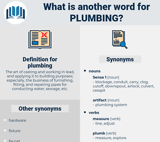 plumbing, synonym plumbing, another word for plumbing, words like plumbing, thesaurus plumbing
