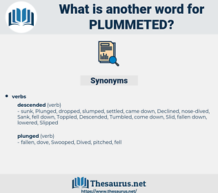 plummeted, synonym plummeted, another word for plummeted, words like plummeted, thesaurus plummeted