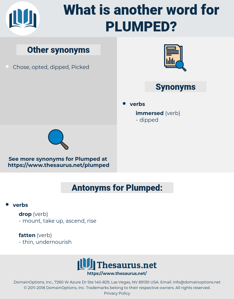 Plumped, synonym Plumped, another word for Plumped, words like Plumped, thesaurus Plumped