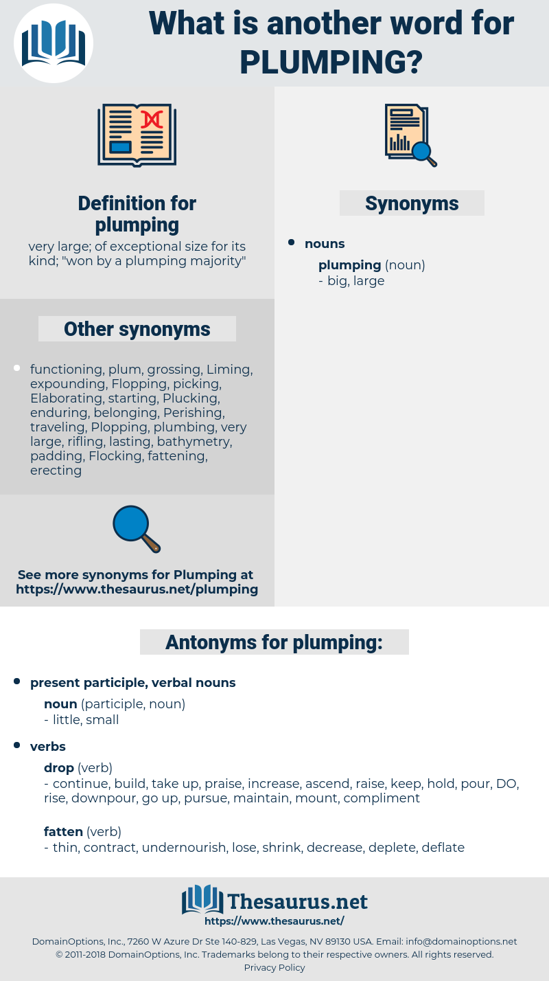 plumping, synonym plumping, another word for plumping, words like plumping, thesaurus plumping