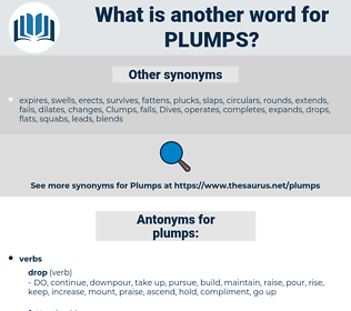 plumps, synonym plumps, another word for plumps, words like plumps, thesaurus plumps