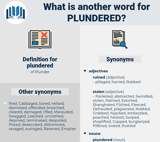 plundered, synonym plundered, another word for plundered, words like plundered, thesaurus plundered
