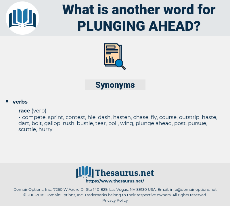 plunging ahead, synonym plunging ahead, another word for plunging ahead, words like plunging ahead, thesaurus plunging ahead