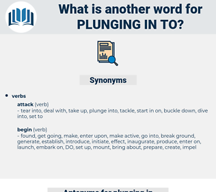 plunging in to, synonym plunging in to, another word for plunging in to, words like plunging in to, thesaurus plunging in to