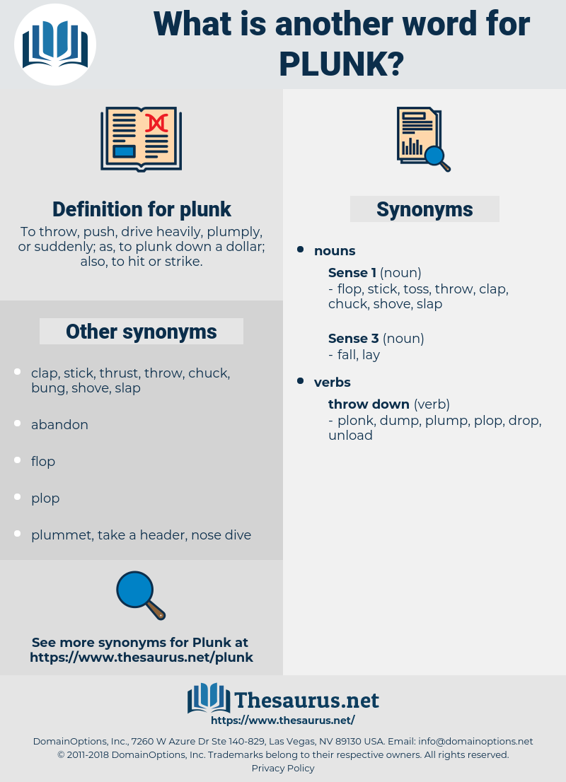 plunk, synonym plunk, another word for plunk, words like plunk, thesaurus plunk