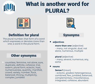 plural, synonym plural, another word for plural, words like plural, thesaurus plural