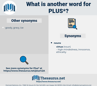 plus, synonym plus, another word for plus, words like plus, thesaurus plus