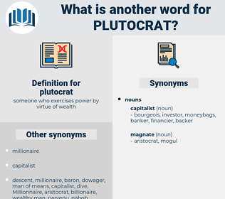 plutocrat, synonym plutocrat, another word for plutocrat, words like plutocrat, thesaurus plutocrat