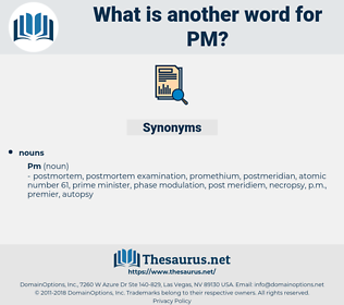 pm, synonym pm, another word for pm, words like pm, thesaurus pm
