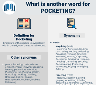 Pocketing, synonym Pocketing, another word for Pocketing, words like Pocketing, thesaurus Pocketing