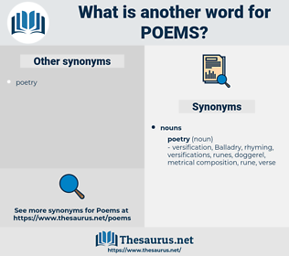 POEMS, synonym POEMS, another word for POEMS, words like POEMS, thesaurus POEMS