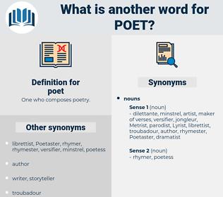 poet, synonym poet, another word for poet, words like poet, thesaurus poet