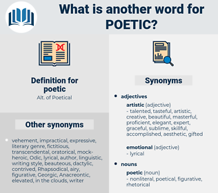 poetic, synonym poetic, another word for poetic, words like poetic, thesaurus poetic