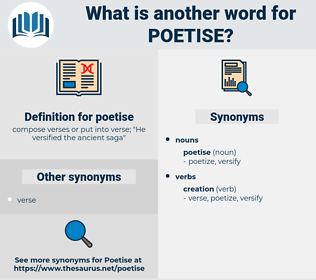 poetise, synonym poetise, another word for poetise, words like poetise, thesaurus poetise