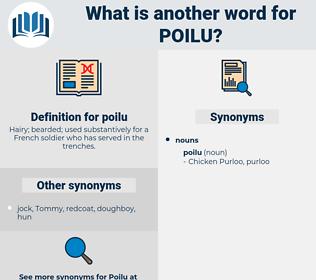 poilu, synonym poilu, another word for poilu, words like poilu, thesaurus poilu