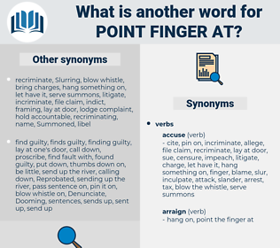 point finger at, synonym point finger at, another word for point finger at, words like point finger at, thesaurus point finger at
