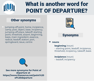 point of departure, synonym point of departure, another word for point of departure, words like point of departure, thesaurus point of departure