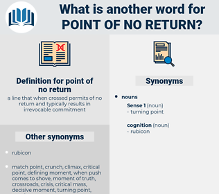 point of no return, synonym point of no return, another word for point of no return, words like point of no return, thesaurus point of no return