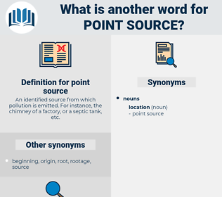 point source, synonym point source, another word for point source, words like point source, thesaurus point source