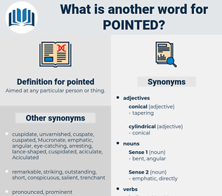 pointed, synonym pointed, another word for pointed, words like pointed, thesaurus pointed