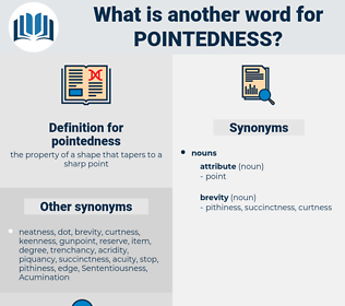 pointedness, synonym pointedness, another word for pointedness, words like pointedness, thesaurus pointedness