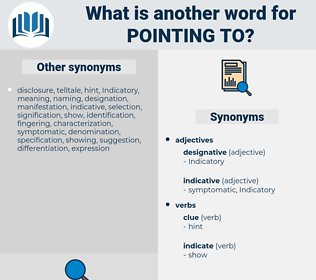 pointing to, synonym pointing to, another word for pointing to, words like pointing to, thesaurus pointing to