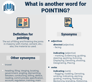 pointing, synonym pointing, another word for pointing, words like pointing, thesaurus pointing