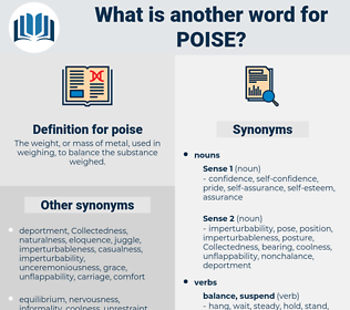 poise, synonym poise, another word for poise, words like poise, thesaurus poise