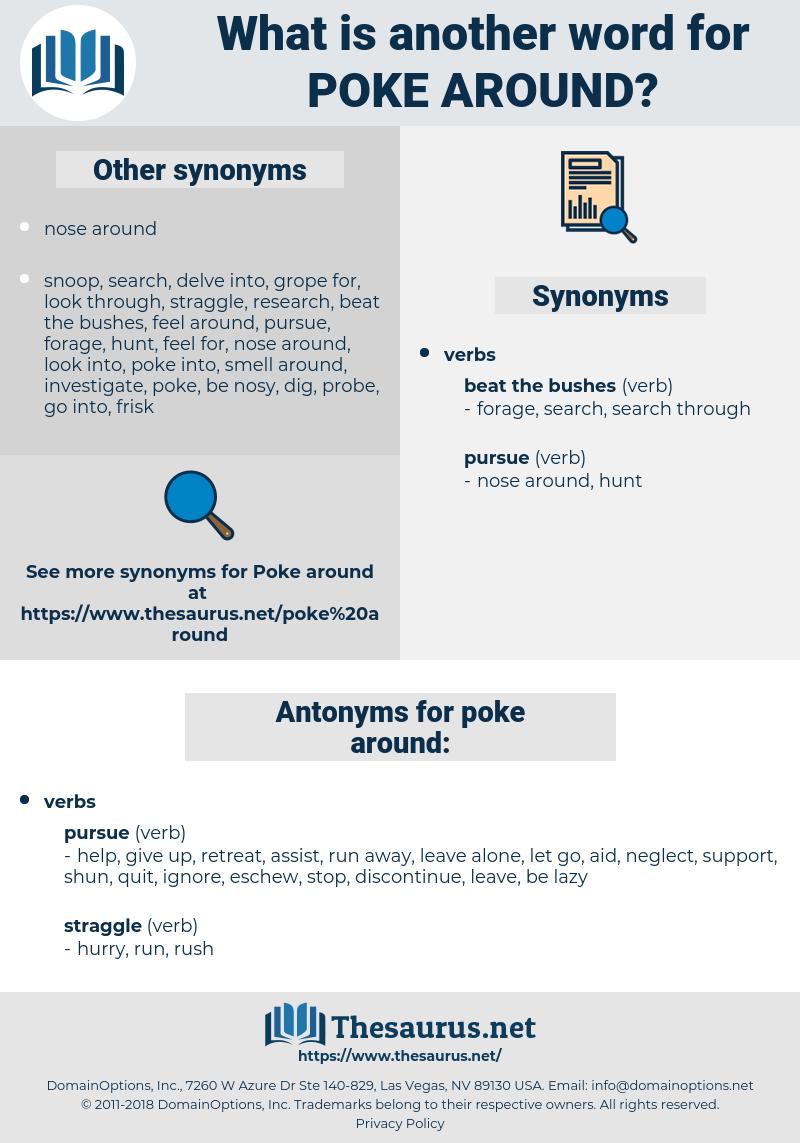 poke around, synonym poke around, another word for poke around, words like poke around, thesaurus poke around