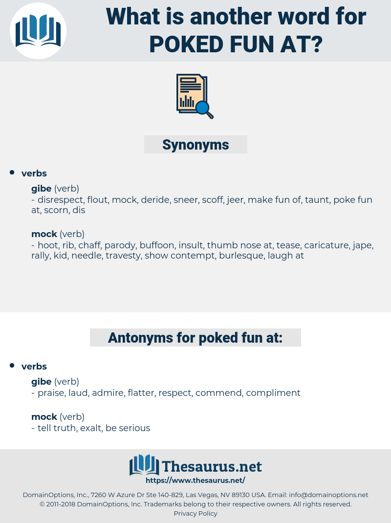 poked fun at, synonym poked fun at, another word for poked fun at, words like poked fun at, thesaurus poked fun at