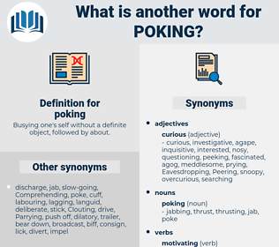 poking, synonym poking, another word for poking, words like poking, thesaurus poking