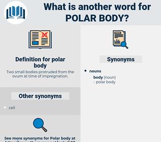 polar body, synonym polar body, another word for polar body, words like polar body, thesaurus polar body
