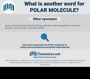 polar molecule, synonym polar molecule, another word for polar molecule, words like polar molecule, thesaurus polar molecule