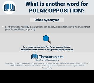 polar opposition, synonym polar opposition, another word for polar opposition, words like polar opposition, thesaurus polar opposition