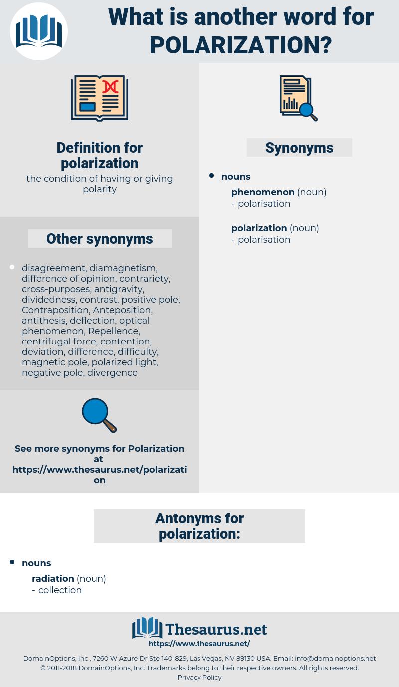 polarization, synonym polarization, another word for polarization, words like polarization, thesaurus polarization