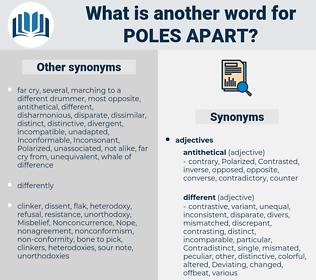 poles apart, synonym poles apart, another word for poles apart, words like poles apart, thesaurus poles apart