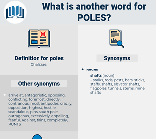 poles, synonym poles, another word for poles, words like poles, thesaurus poles