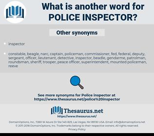 police inspector, synonym police inspector, another word for police inspector, words like police inspector, thesaurus police inspector