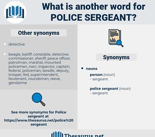 police sergeant, synonym police sergeant, another word for police sergeant, words like police sergeant, thesaurus police sergeant