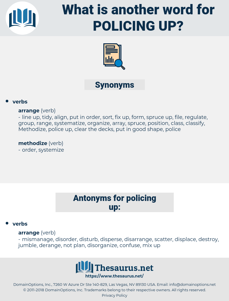 policing up, synonym policing up, another word for policing up, words like policing up, thesaurus policing up