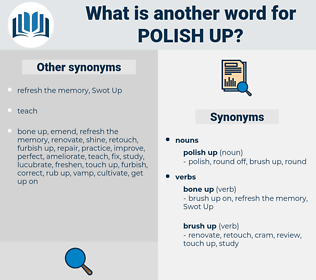 polish up, synonym polish up, another word for polish up, words like polish up, thesaurus polish up