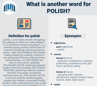 polish, synonym polish, another word for polish, words like polish, thesaurus polish