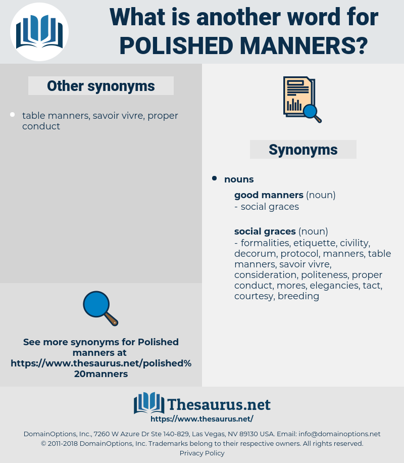 polished manners, synonym polished manners, another word for polished manners, words like polished manners, thesaurus polished manners