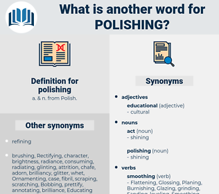 polishing, synonym polishing, another word for polishing, words like polishing, thesaurus polishing