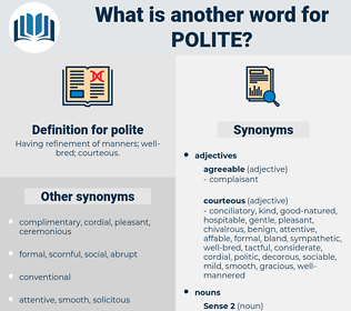 polite, synonym polite, another word for polite, words like polite, thesaurus polite