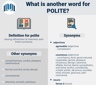 polite, synonym polite, another word for polite, words like polite, thesaurus polite