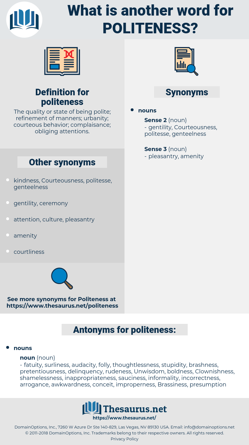 politeness, synonym politeness, another word for politeness, words like politeness, thesaurus politeness
