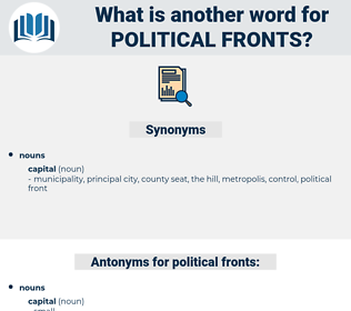 political fronts, synonym political fronts, another word for political fronts, words like political fronts, thesaurus political fronts