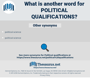 political qualifications, synonym political qualifications, another word for political qualifications, words like political qualifications, thesaurus political qualifications